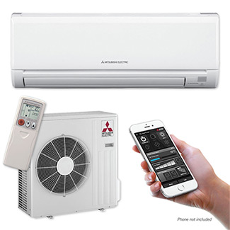 Ductless heat pump mini-split system rentals in Canada.